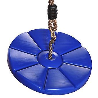 Runde Schaukel Patel Schaukel Außen und Innen Kunststoff Runde Kletterschaukel für Kinder und Kinder (blau)