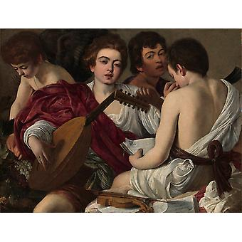 Musicians, Caravaggio Art Reproduction. Baroque Style Modern Hd Art Print Poster, Canvas Prints Wall Art For Office Home Decor Pictures