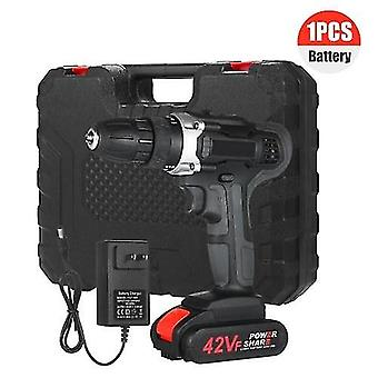 21V Cordless Drill Dirve Kit 2 Speed All Copper Motor Cordless Power Drill with 1x1.5Ah Batteries