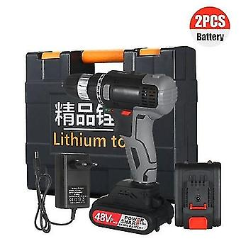 160W 21V Cordless Drill Dirve Kit 2 Speed Brushless Cordless Power Drill with 2x1.5Ah Batteries Fast