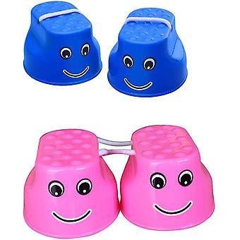 4 Stelzen für Balance, Stepper, Spielzeug für die sensorische Entwicklung der Früherziehung (blau