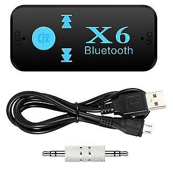 3,5 mm auf USB Bluetooth Empfänger AUX Audio BT X6 Musik Adapter Auto PC Laptop