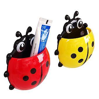 Porta spazzolino da denti Ladybug Portaaezione a parete Porta spazzolini da denti per contenitori