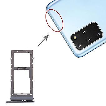 Bandeja de tarjeta SIM + Bandeja de tarjeta Micro SD para Samsung Galaxy S20 + / Galaxy S20 Ultra (negro)