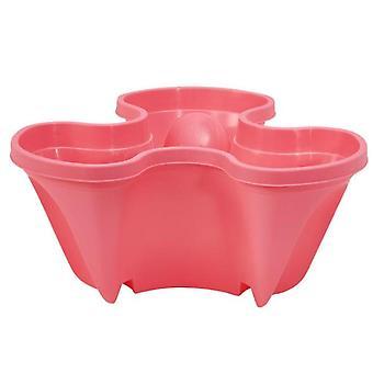Self Watering 3 Tier Stackable Garden Vertical Planter Set(Pink)
