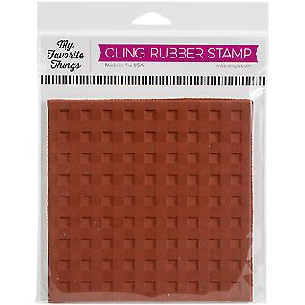 """My Favorite Things Background Cling Rubber Stamp 6""""X6"""" - Buffalo Plaid"""