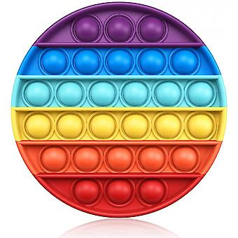 Empurre pop bubble fidget sensorial toy silicone stress reliefr Push Fidget Pop Toy Squeeze Sensorial Toy Toy For Kids With Add, Adhd or Autism