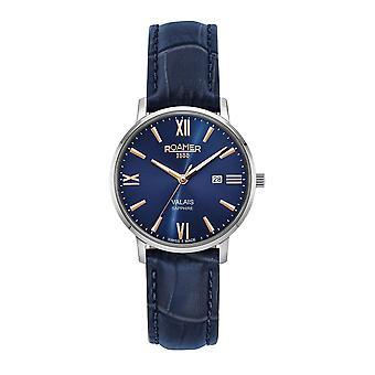 Roamer 958844 41 43 05 Women's Valais Blue Leather Strap Wristwatch