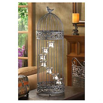 Gallery of Light Spiral Staircase Birdcage Candle Holder, Pack of 1