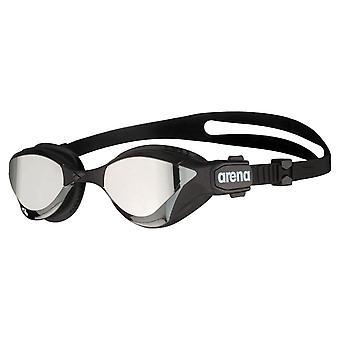 Arena Cobra Tri Speil Triathlon Sveip Svømming Briller Hard Lense - Sølv