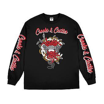 Crooks & Castles Script Chain Medusa Long Sleeve Tee Black