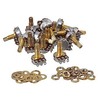 الغيتار التجهيزات أجزاء الذهب 18mm رمح a500k الغيتار الكهربائي باس التحكم وعاء مجموعة قوية من 50 جزء في المليون-2140