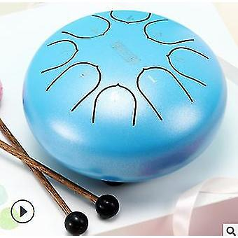 6 pouces en acier langue tambour 8 tune pan tambour réservoir tambour avec pilons portant sac percussion
