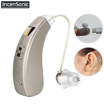 Mini audífono recargable audifonos amplificadores de sonido audífonos inalámbricos para ancianos moderados a