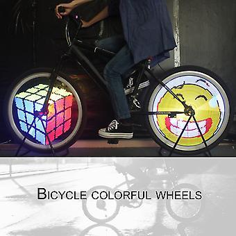 القابلة لإعادة الشحن عجلة مصباح قابل للبرمجة Led دراجة ضوء مصباح ركوب الدراجات الملونة