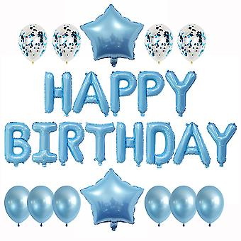 25 stuks aluminiumfolie ballonnen gelukkige verjaardag banner partij decoratie