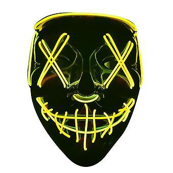 Halloween pelottava naamio Cosplay led puku naamio ei voi toimittaa ennen Halloweenia