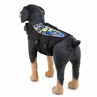 Pet Swimsuit, Life Vest, Mermaid Reflective Pet Swimsuit, Whale Dog Swimsuit, (jsy08 Black) M