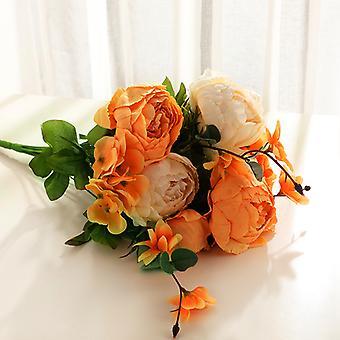 פרחים מלאכותיים 25 פרחי אדמונית בסגנון אירופאי