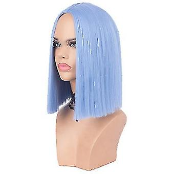 European And American Wigs Women's  Suitable For Christmas Role Playing(Blue)