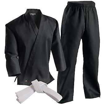 Century 6 oz. Lightweight Student Uniform with Elastic Pants-Black -martial arts