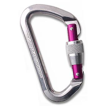 Omega Pacific Classic Locking Gate Carabiner - Purple Locking Gate