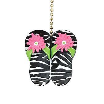 Zebra Animal divertido imprime sandálias Flip Flop leve tração ventilador de teto