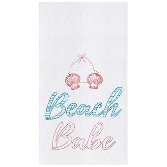 Beach Babe Flour Sack Kitchen Towel Cotton 27 Inch