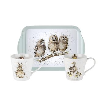 Pimpernel Wrendale Designs Twin Mug & Tray Set