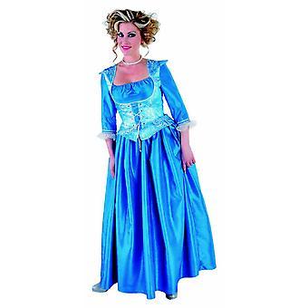 Vrouwen kostuums vrouwen markiezin jurk blauw