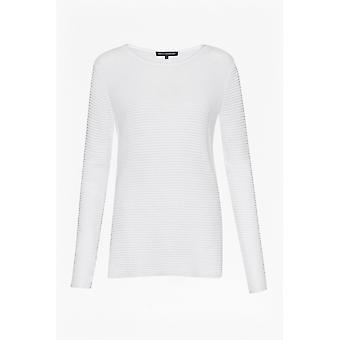 Ranskalainen liitos Richter neuleita pitkä hiha Slash-kaula naisten pusero