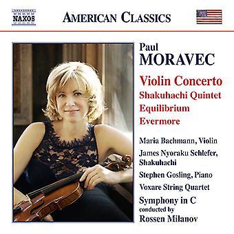 Moravec / Bachmann / Symphony in C / Milanov - Violin Concerto - Shakuhachi Quintet - Equilibrium [CD] USA import