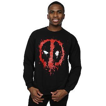 Marvel Herren Deadpool Splat Gesicht Sweatshirt