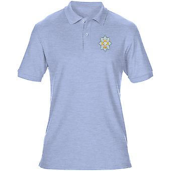The Worcestershire & Sherwood Foresters Embroidered Logo - Official British Army Mens Polo Shirt