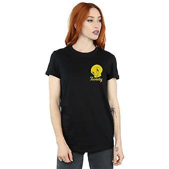 Looney Tunes Women's Tweety Pie Head Boyfriend Fit T-Shirt