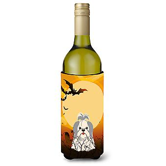 Halloween Shih Tzu srebro biały butelka wina Beverge izolator Hugger