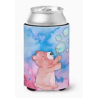 Carolineøerne skatte BB7347CC Bear og bobler akvarel dåse eller flaske Hugger