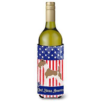 Wire Fox Terrier American Wine Bottle Beverge Insulator Hugger
