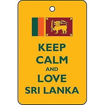 Keep Calm And Love Sri Lanka Car Air Freshener