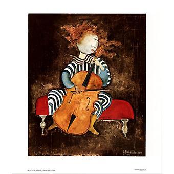 Fille au Violoncelle Poster Print von Graciela Rodo Boulanger (26 x 30)