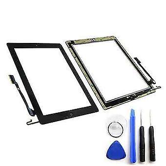 iPad 4 numériseur verre écran tactile noir