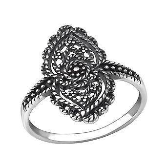 Antigo - 925 Sterling Silver Plain anéis - W34364x