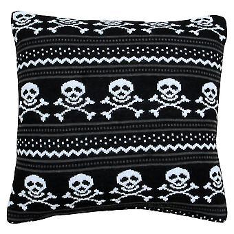 Riva hjem strikket Skull puten