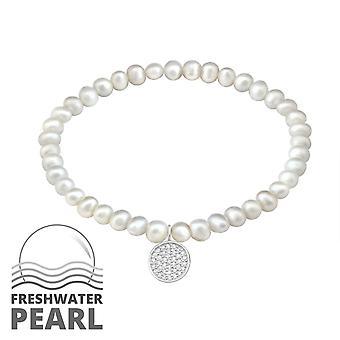 Round - 925 Sterling Silver Chain Bracelets - W29025X