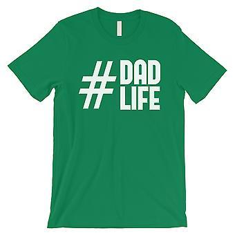 أبي Hashtag الحياة القميص الأخضر رجالي