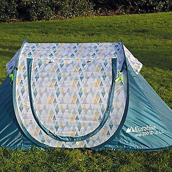 New Eurohike Camping 2 Person Pop Up 200 Tent Teal