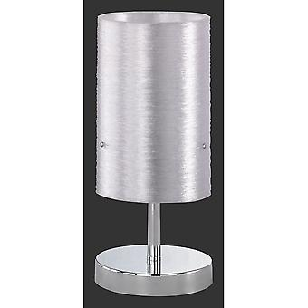 Trio Lighting Lacan Young Living Chrome Metal Table Lamp