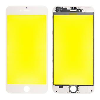 For iPhone 6 Plus - Front Glass With Cold Pressed Frame - White