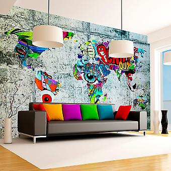 Papier peint - Map - Graffiti