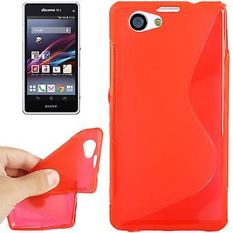 Eloisa asia TPU asia Sony Xperia Z1S / Z1 mini punainen